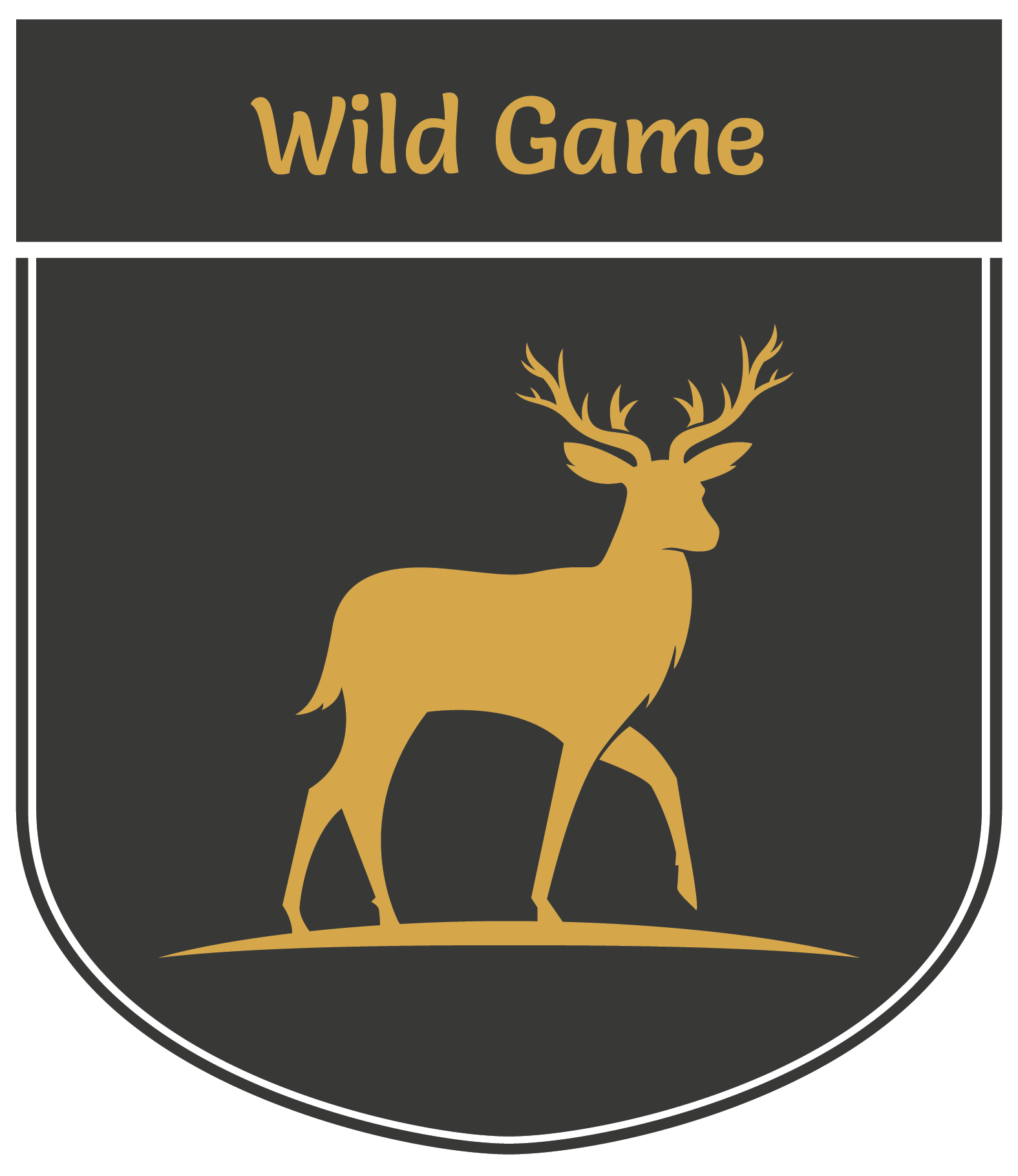 Vertical banner displaying an illustration of a dear | Wild Game Processing